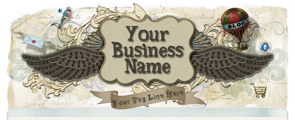 steampunk vintage scrap website template