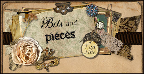 Bits & Pieces Vintage Scrap Web Design Template
