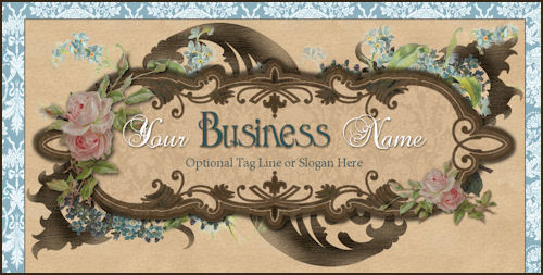 Blue Damask Template