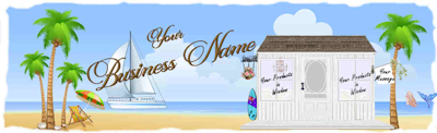 Beach Cottage Web Design Template