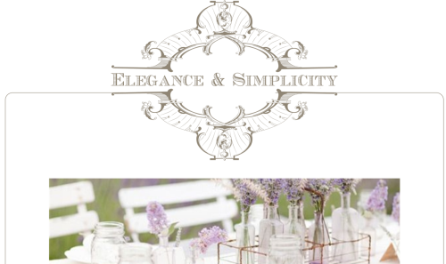 Elegance & Simplicity -- OOAK Website Template Design