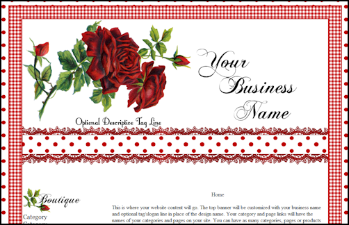Gingham Rose Web Design Template