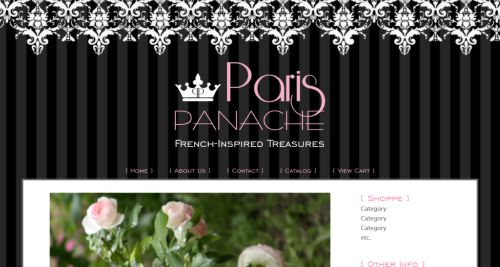 Paris Panache -- Romantic French-Inspired Web Design