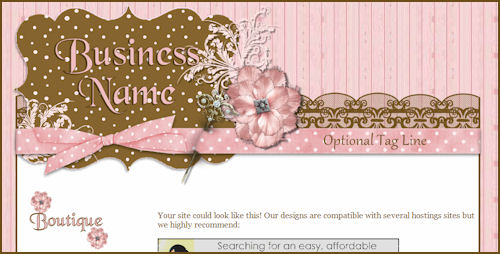 Pink & Brown Girly Template