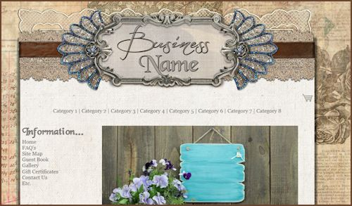Rustic Elegance Web Design Template