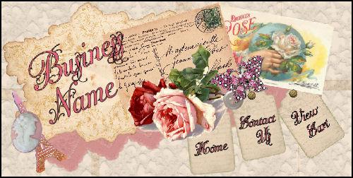 Shabby Roses Template