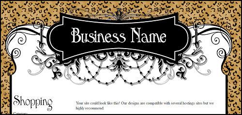 Sassy Leopard Print  Web Template