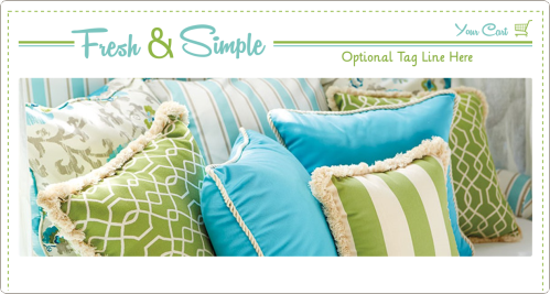 Fresh and Simple (No. 2) Web Design Template -- Turquoise and Lime Green on White