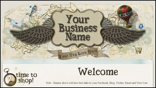 Vintage Steampunk/Scrap Style Web Template