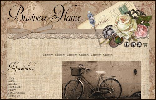 Vintage Linen Web Design Template