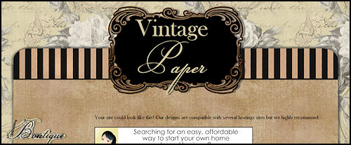 Vintage Paper - Website Template
