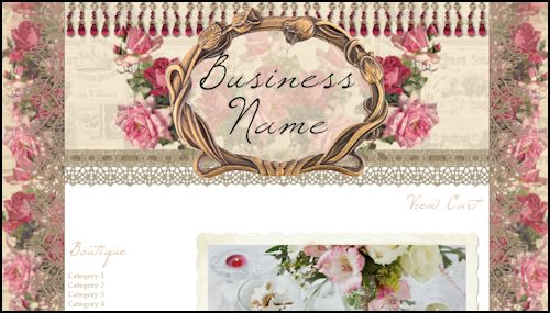 Victorian Roses & Lace - Web Design Template