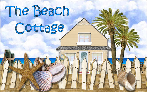 Beach Cottage Chic Web Design Template