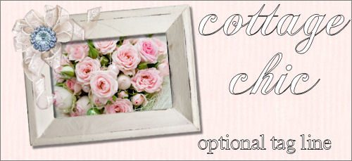 Cottage Chic Roses Web Design Template