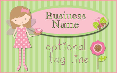 Whimsical Fairy Girl Web Template - Pink & Green