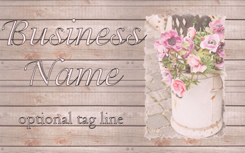 Shabby Chic Flowers Web Design Template