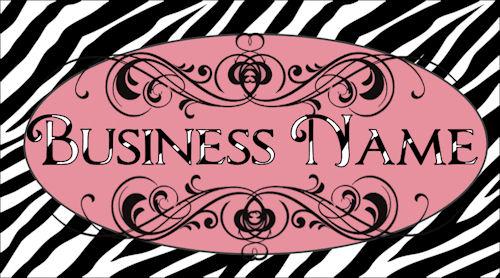 Bold and Sassy Zebra Print Template